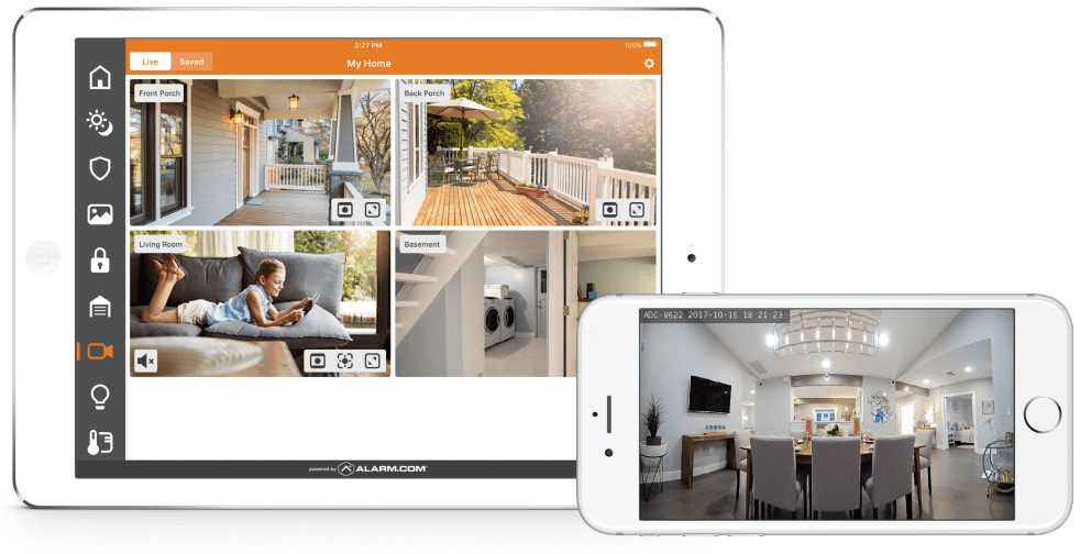 Alarm.com' 180° Interior Camera – Gives You Peace Of Mind At Home!